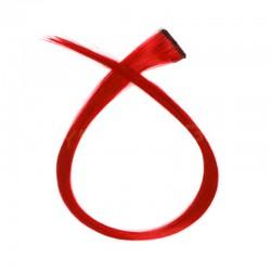 Mechón Clip Fantasía 50cm Rojo